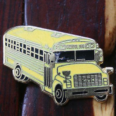 "1"" Conventional School Bus Driver Hard Enamel Lapel / Hat Pin"