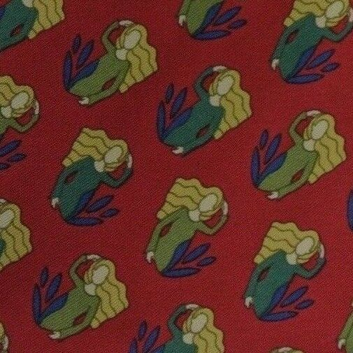 Rojo Self con Puntas Rubio Mujer Corbata de Seda