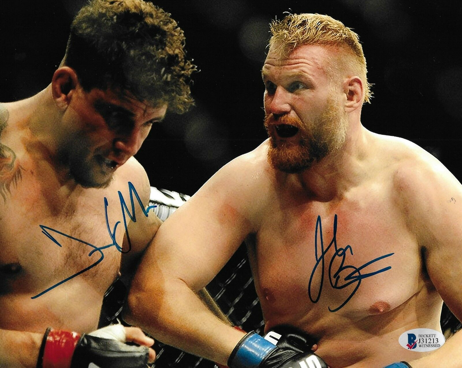Josh Barnett Frank Mir Signé 8x10 Photo Bas COA UFC Champion 164 Image