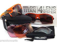 BLOC interchangeable TITAN sports Sunglasses Shiny Orange/ 4 Lens Box Set X632
