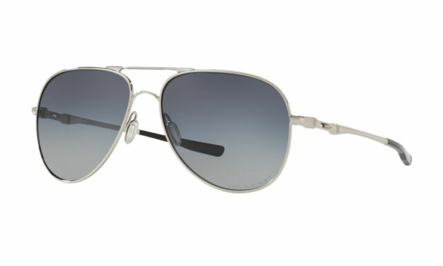 e2b07c523e4 Oakley Sunglasses OO4119-0260 Elmont Polished Chrome Gray Gradient Polarized