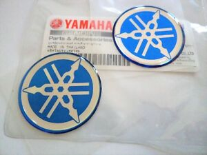 Yamaha Genuine 30mm Tuning Fork Blue Silver Decal Emblem Sticker Badge Uk Stock Ebay