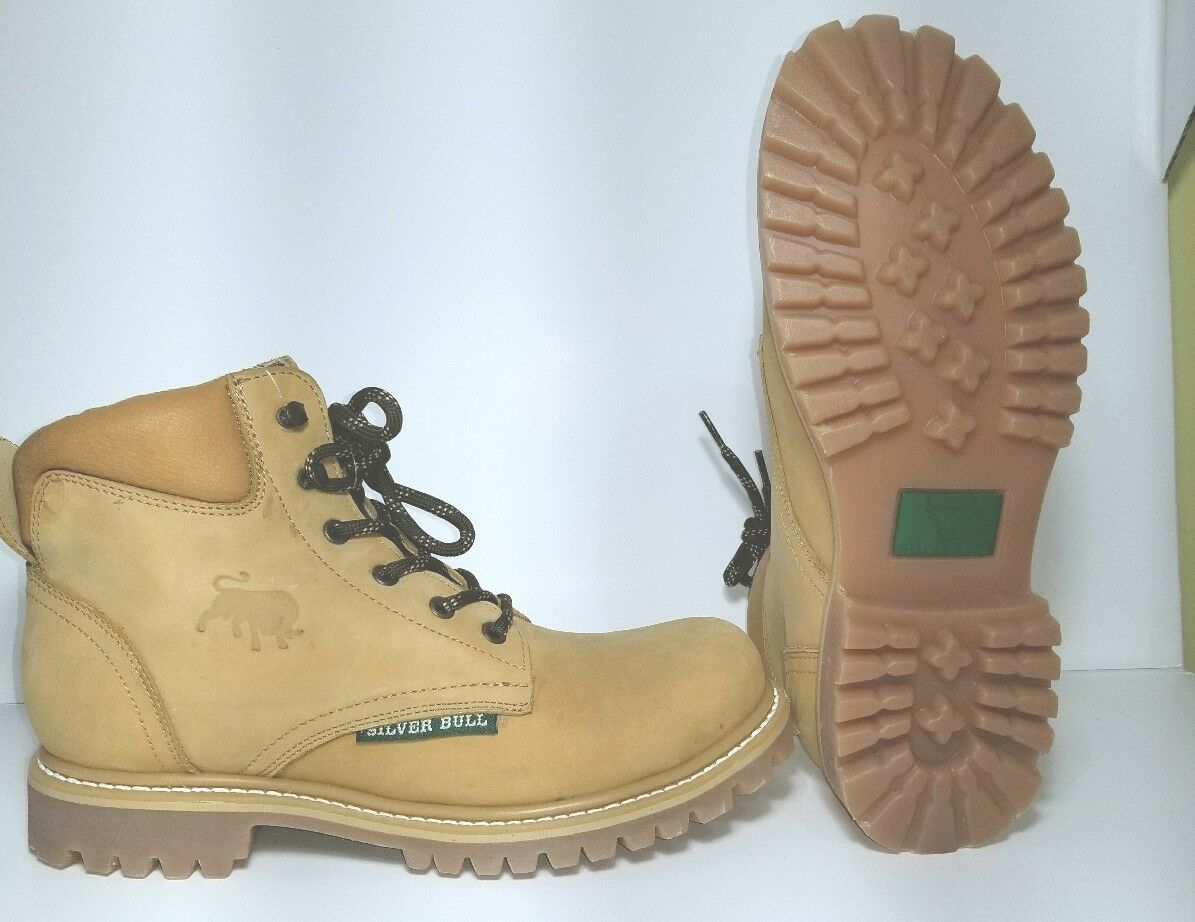 Men's work boots 100 % genuine leather  Silverbull  handcrafted, made in Mexico.