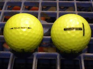 2 Dozen (24) Yellow Titleist Tour Soft Golf Balls AAAA - AAAAA Near Mint to MINT