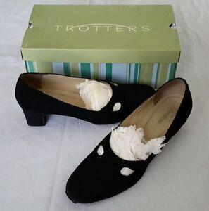 Trotters Noir 9 Babs Talon Bobine Pour Escarpins Femmes Chaussures Sz Micro 5n rXxOXwtHq