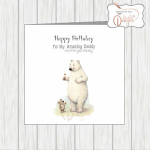 Image Is Loading Happy Birthday Daddy From Your Little Boy Card