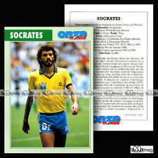 SOCRATES (CORINTHIAS, FIORENTINA, FLAMENGO) Fiche Football Futebol (1994)