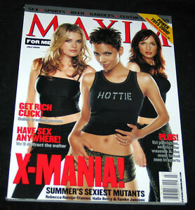 2000-Maxim-X-MEN-Famke-Janssen-HALLE-BERRY-NICE-MINT-COPY