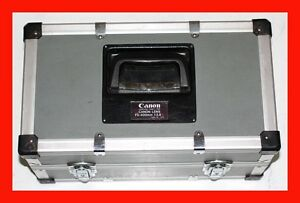 GENUINE-CANON-400-400mm-f-2-8-L-METAL-TRUNK-Carrying-CASE-2-HOLDER-CASING
