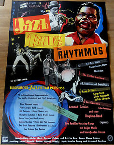 Kinoplakat-JAZZ-TANZ-UND-RHYTHMUS-Be-Bop-Jazz-Festival-Paris-1956