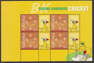 AUSTRALIA-2004-CRICKET-BOXING-KANGAROO-BOOKLET-PANE-MNH