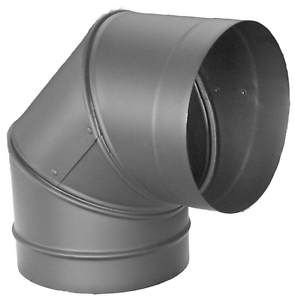 Image Is Loading Duravent Chimney Stove Pipe Elbow Single Wall 6