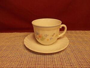 Image is loading Arcopal-Dinnerware-Victoria-Pattern-Cup-&-Saucer-Set & Arcopal Dinnerware Victoria Pattern Cup \u0026 Saucer Set | eBay