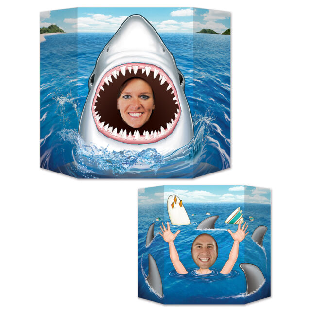 Shark Photo Prop - 94 x 64cm - Deep Sea Animal Party Decorations - Shark Attack