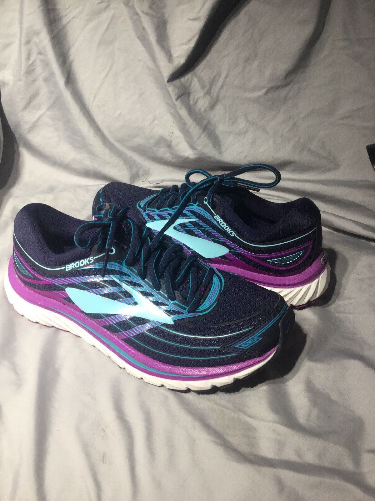 Brooks Glycerin 15 Women's 10.5 B Medium Evening bluee Purple Cactus 120247 465