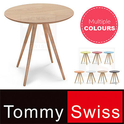TOMMY SWISS: NEW Dining Table Round Scandinavian Designer Wood Multiple Colours