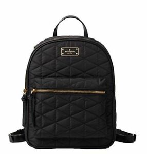 c9202f0c0a3a Kate Spade Wilson Road Quilted Small Bradley Black Nylon Backpack Wkru4752