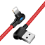 miniature 14 - 3Pack 90 Degree 6Ft USB Fast Charging Cable For iPhone 12 11 X 8 7 Charger Cord