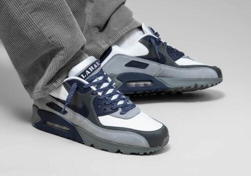 Nike Air Max 90 Lahar Escape White Premium Trainers Indigo //Grey Shoes