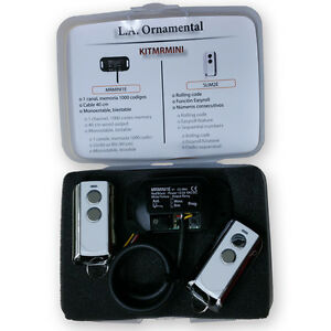 Garage door receiver and transmitter kit