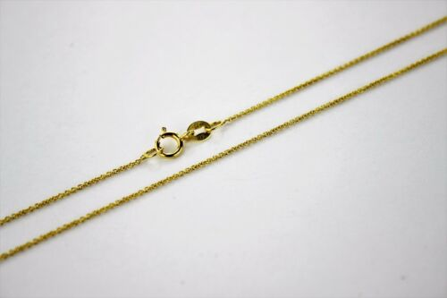 """Authentic 10K Solid Yellow Gold Rolo Chain 0.9mm//16/""""~24/"""""""