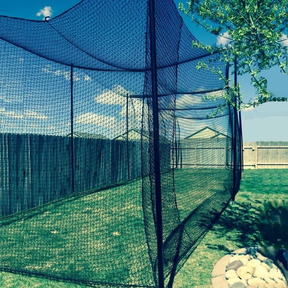 12' 12' 12' X 12' X 55' Batting Cage Net ( 36), Rope Edges, NEW 32b81f