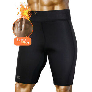 5a76dc9dae5d4 Men s Sweat Sauna Pants Thermo Slimming Shorts Thigh Shaper Neoprene ...