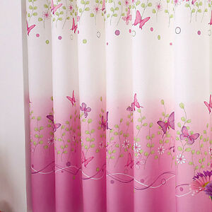 Details about 1pc Eyelet Butterfly Pink Finished Curtain Bedroom Kids  Window Curtains Decor