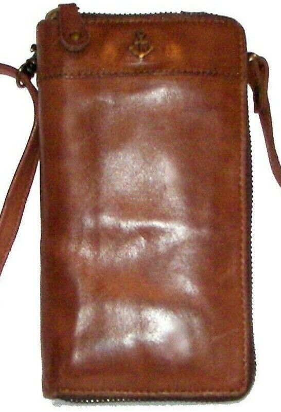 HARBOUR 2ND Brown Leather Purse/Belt Crossbody NWT