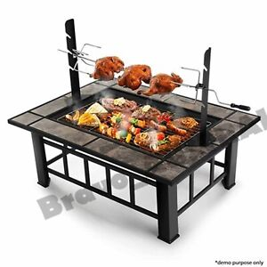 Outdoor Fire Pit Bbq Grill Garden Patio Camping Heater Fireplace