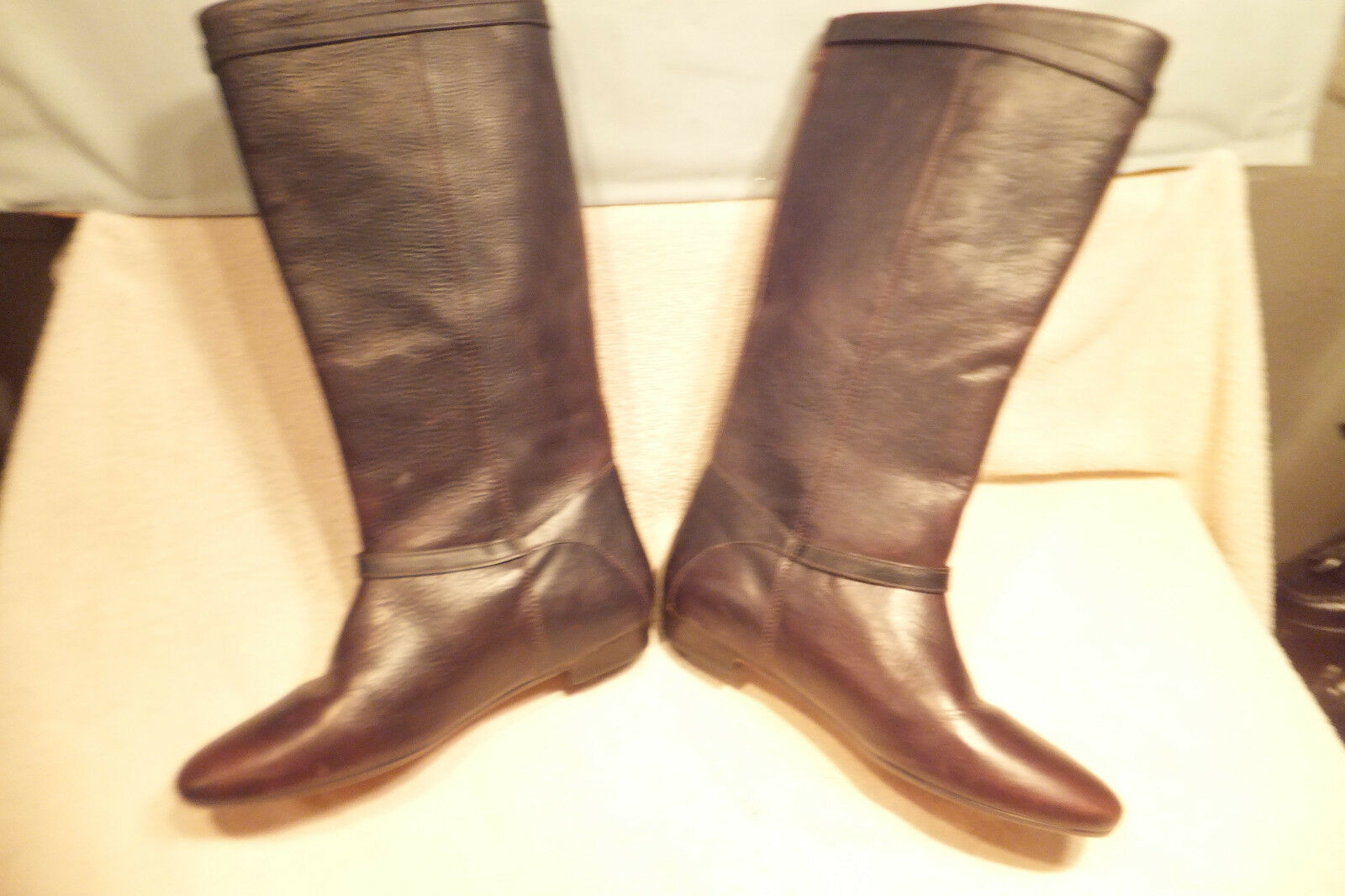 Frye   77985 Brown Pebbled Distressed Distressed Distressed Leather 13.5  Tall Size 6M NEVER WORN e780fb