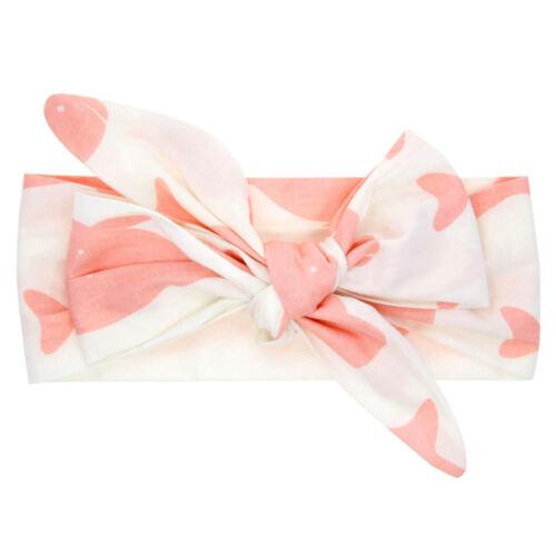 Newborn Infants Girl Baby Bow Headband Hair Band Accessories Headwear Head Wrap