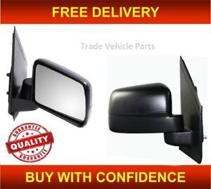 Ford Tourneo Connect 2009-2013 Door Mirror Manual Black N//S Passenger Left