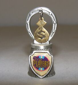 Pewter-Souvenir-Collectible-Thimble-The-Players-Casino-Las-Vegas