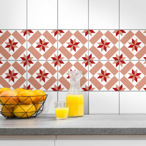 "Bathroom Tile Stickers 4er Set /""Aileen/"" Kitchen Shower Durable Stickers"
