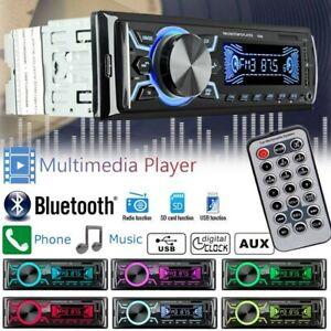 Car-Radio-Stereo-Bluetooth-FM-Audio-Head-Unit-MP3-Player-USB-SD-AUX-In-Dish-AU