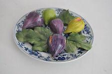 Christine Viennet France Vtg Trompe L'Oeil Pottery Vegetable Fruit Plate French