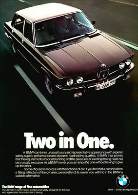 BMW E3 3.0 S RETRO A3 POSTER PRINT FROM CLASSIC 70/'S ADVERT