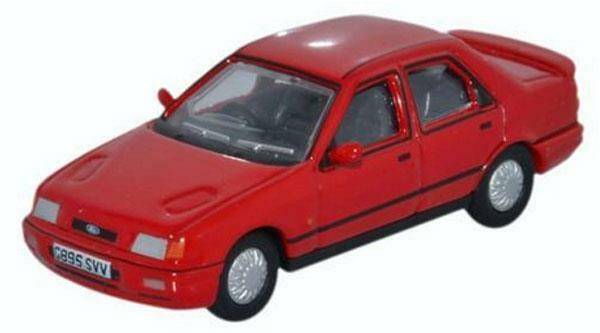 OXFORD DIECAST 76FS003 1:76 OO SCALE Ford Sierra Sapphire Radiant Red