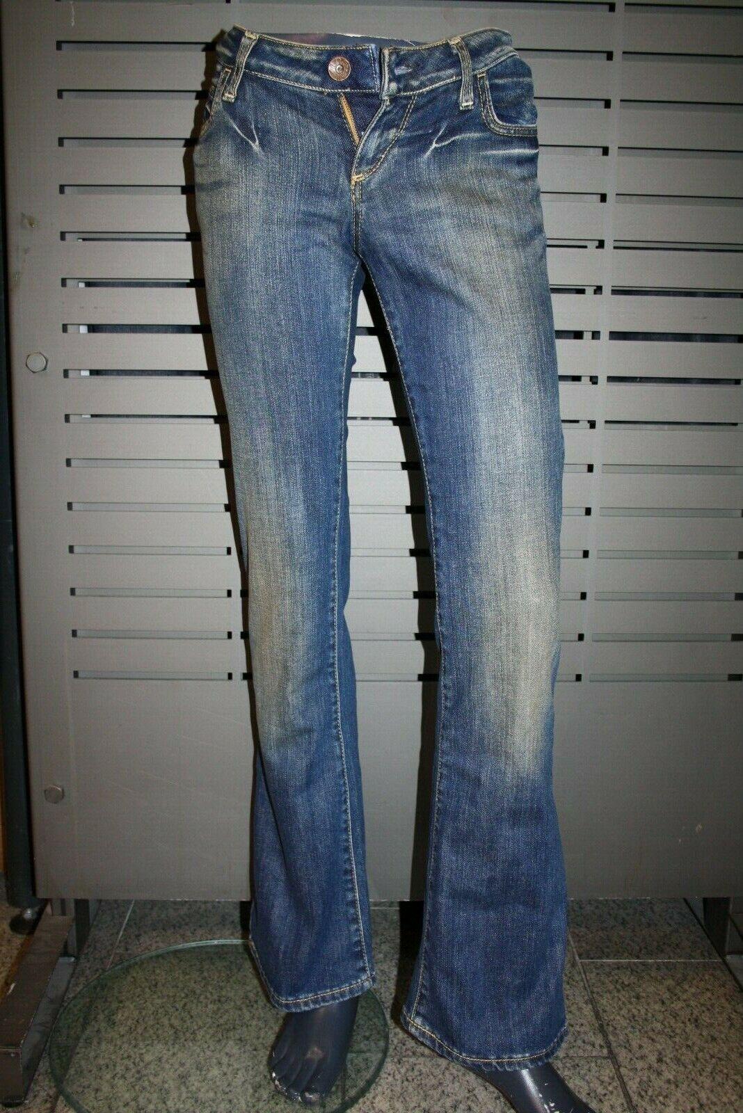Miss Sixty Jeans EXTRA LOW TY dirty Blau neu vintage new leicht ausgestellt