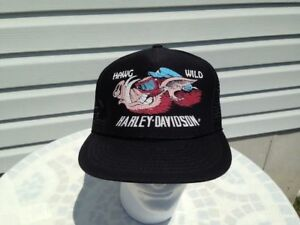 a6be023c Harley Davidson Hawg Hog Wild Pig Boar Emblem Mesh Trucker Cap Hat ...