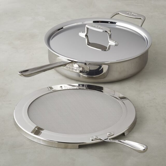 All Clad D5 Brushed Stainless Steel 6 Quart 5 Ply Saute