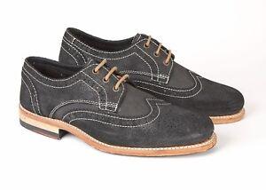 Shoes Chester Lambretta 42 Eu Goodyear Uk 8 Black Brogue Leather FwwqgE