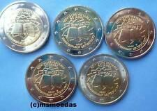 Deutschland 5 x 2 Euro Gedenkmünzen 2007 Römische Verträge commemorative ADFGJ