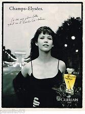 PUBLICITE ADVERTISING 055  1996  GUERLAIN  parfum  CHAMPS ELYSEES  SOPHIE MARCEA