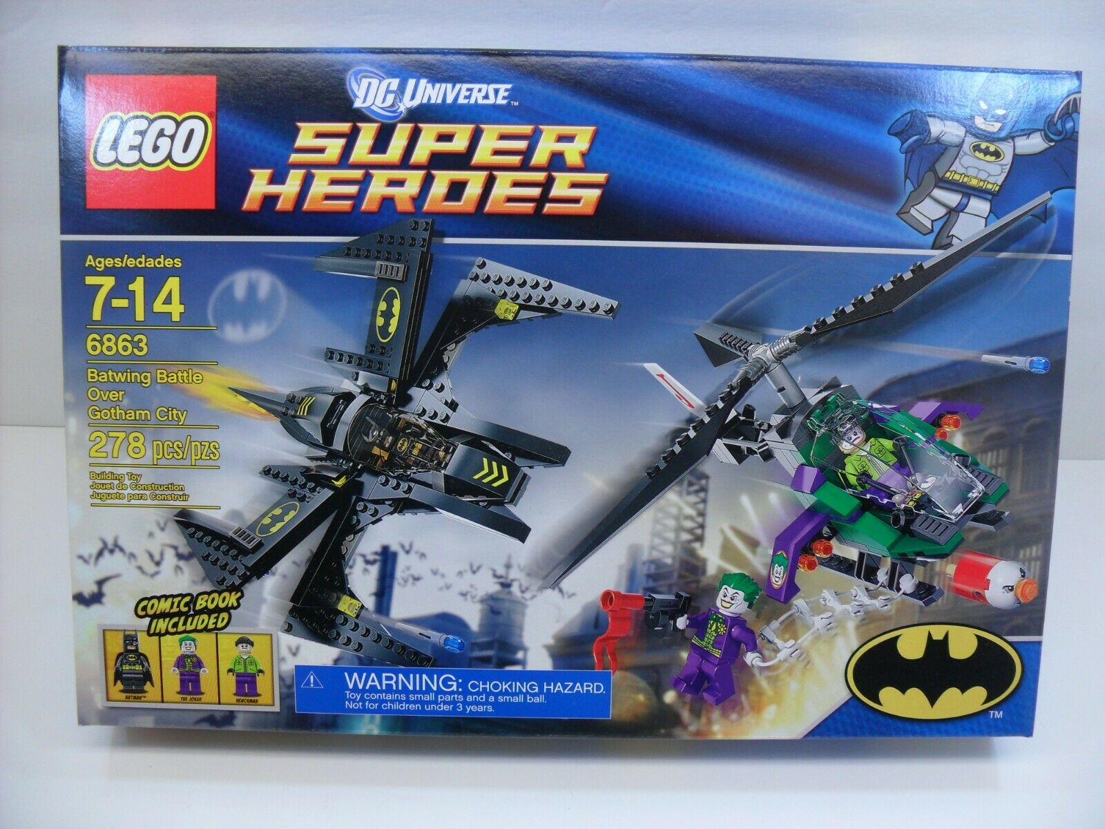 Sealed LEGO 6863 DC Superheroes Batman  Batwing Battle Over Over Over Gotham City 278 Pcs 147cf0