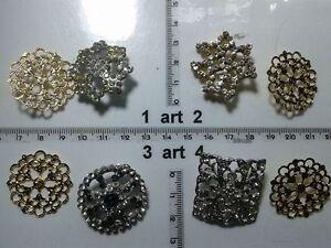1-lotto-bottoni-gioiello-strass-smalti-perle-vetro-buttons-boutons-vintage-g13