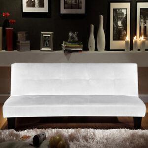 Divano letto moderno 164x95 bianco microfibra soggiorno sofa arredi interni k8 ebay - Divano letto ebay ...