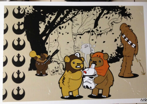 """Star Wars Ewok Afterparty movie 24/""""x36/"""" poster print"""