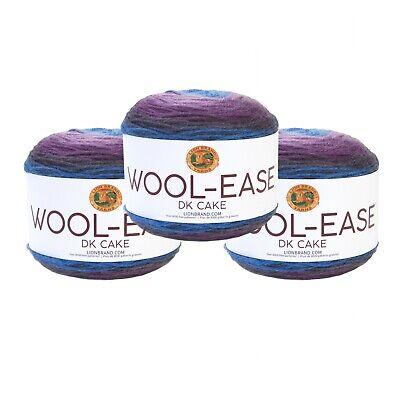 Lion Brand Yarn 622-602 Wool-Ease DK Cakes Yarn Lakeside